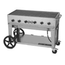 Crown Verity MCB-48LP Mobile Outdoor Charbroiler 6 Burners