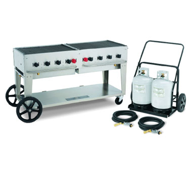 Crown Verity MCB-60 Mobile Outdoor Charbroiler 8 Burners