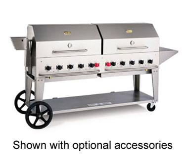 Crown Verity MCB-72NG Mobile Outdoor Charbroiler 10 Burners