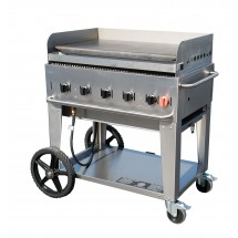 Crown Verity MG-36 Mobile Outdoor Griddle 5 Burners