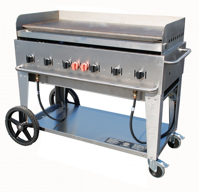 Crown Verity MG-48 Mobile Outdoor Griddle 6 Burners