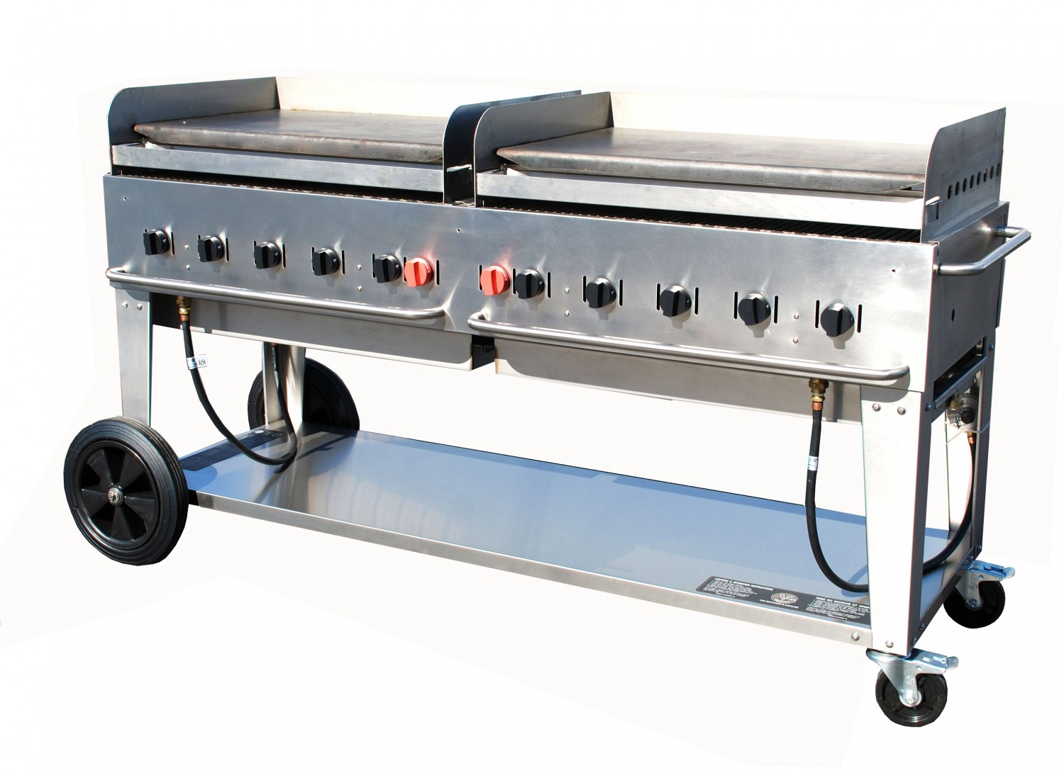 Crown Verity MG-72 Mobile Outdoor Griddle 10 Burners
