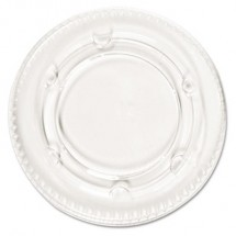 Crystal-Clear Portion Cup Lids, Fits 1.5-2.5 oz. Cups, 2400/Carton
