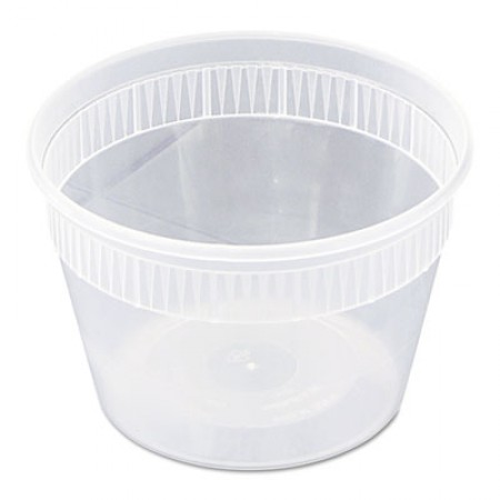 DELItainer Microwavable Combo, Clear, 16 oz, 2 x 2 x 2, 240/Carton