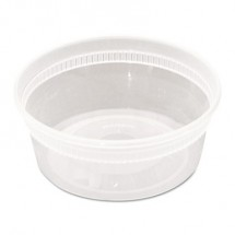 DELItainer Clear Microwavable Combo, 8 oz, 1.13 x 2.8 x 1.33, 240/Carton