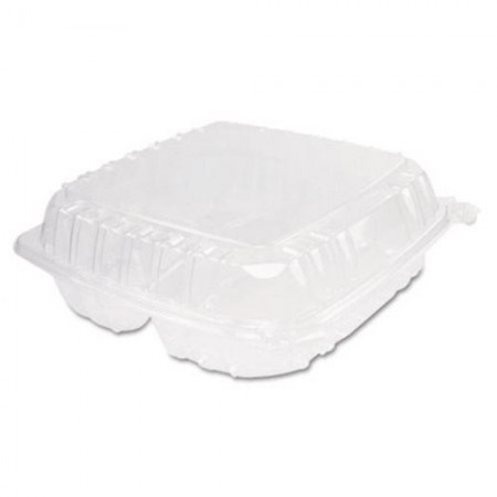 Dart ClearSeal 3-Compartment Plastic Hinged Containers, 9