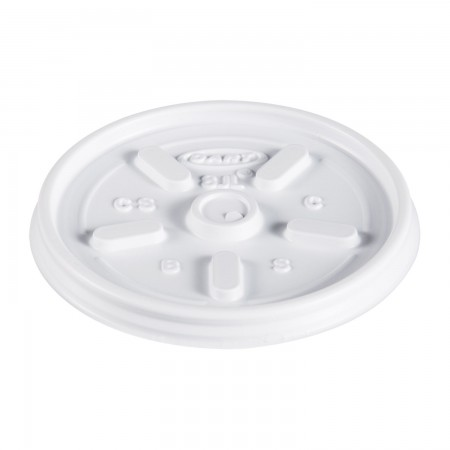 Dart Plastic Vented Lids for Foam Cups, Bowls and Containers, Fits 6-14 oz., 1000/Carton