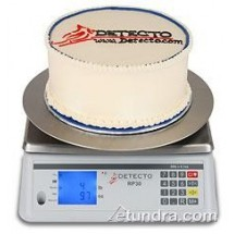 Cardinal Detecto RP30R Round Rotating Digital Ingredient Scale 30 lb.