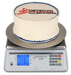 Detecto RP30R Ingredient Scale with Round Rotating Platform