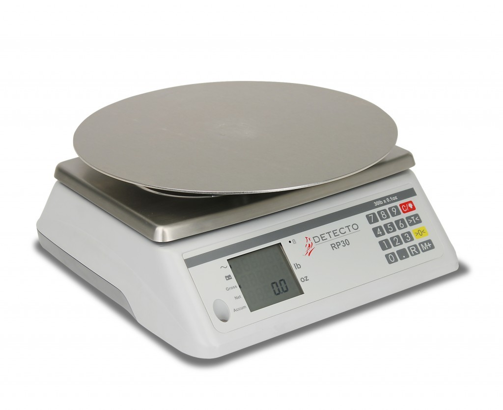 Detecto RP30S Ingredient Scale with Square Rotating Platform