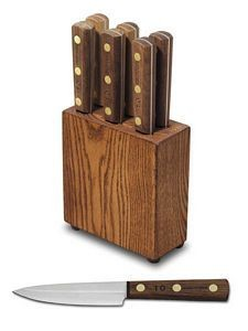 Dexter Russell #6 Set Green River® 6 Piece Steak Knife Set with Block