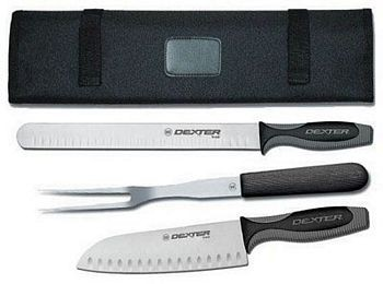 Dexter Russell VCC3 V-Lo® 3 Piece Cutlery Set with Cutlery Carrying Case