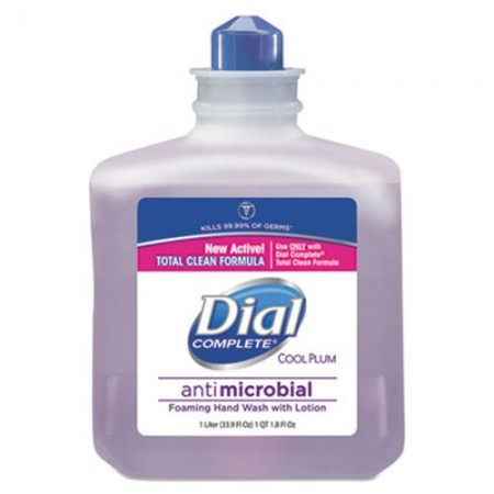 Dial Antimicrobial Foaming Hand Wash, Cool Plum Scent, 1000 mL, 4/Carton