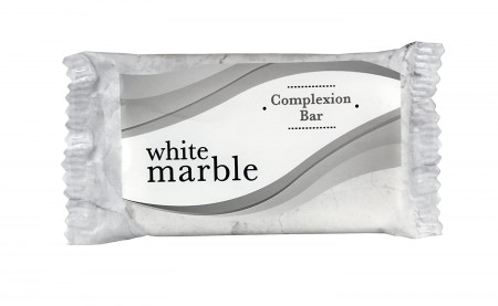 White Marble Complexion Soap Bar, Individually Wrapped, 0.75 oz. 1000/Case