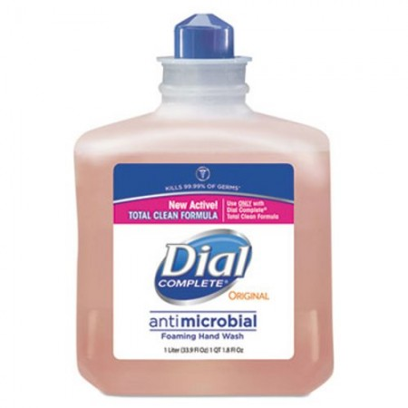 Dial Professional Antimicrobial Foaming Hand Soap Refill, Light Peach, 1 Liter, 6/Carton