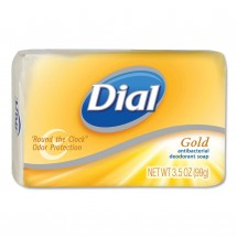 Dial Gold Antibacterial Deodorant Bar Soap, Individually Wrapped, 4 oz. Bars, 72/Case