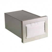 Dispense-Rite CMND-1 Built In Stainless Steel Horizontal Napkin Dispenser