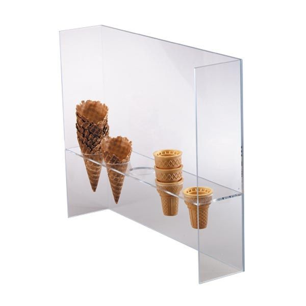 Dispense-Rite CSG-5L 5-Cone Ice Cream Cone Stand with Guard
