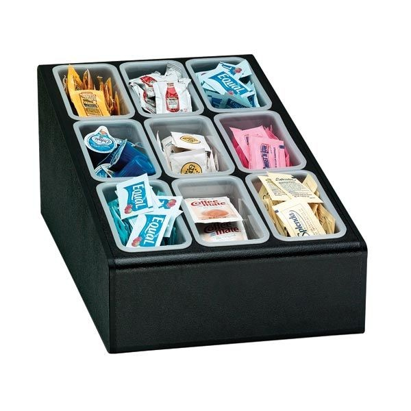 Dispense-Rite CTCD-9BT 9- Section Condiment Organizer