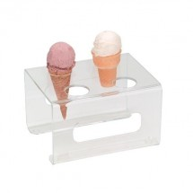 Dispense-Rite CTCS-4C Acrylic 4-Cone Ice Cream Cone Stand