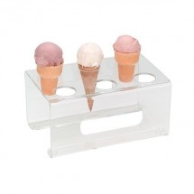 Dispense-Rite CTCS-6C Acrylic 6-Cone Ice Cream Cone Stand