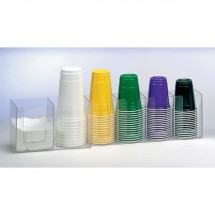 Dispense-Rite CTHL-6 6-Compartment Beverage Cup / Lid Organizer