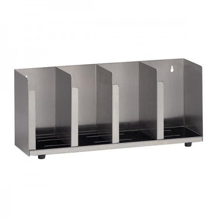Dispense-Rite CTLD-19 4- Section Adjustable Cup / Lid Organizers