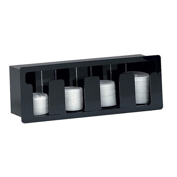 Dispense-Rite FML-4 4-Compartment Built-in Beverage Lid Dispenser