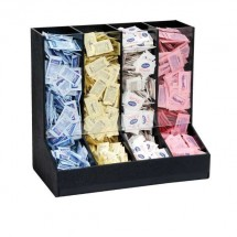 Dispense-Rite GFBO-4BT 4-Section Condiment Packet Organizer