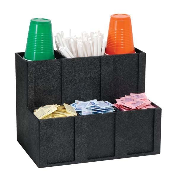 Dispense-Rite MCD-6BT 6- Section Cup, Lid, Condiment and Straw Organizer