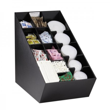Dispense-Rite NLO-CTVL 14 Compartment Napkin Dispenser and Condiment / Lid Organizer