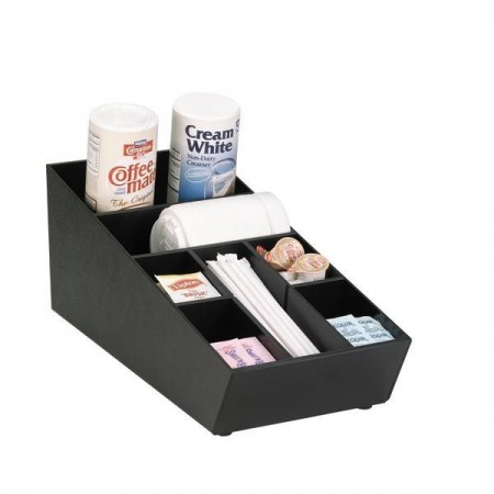 Dispense-Rite NLO-STK-1BT Configurable Lid, Straw and Condiment Organizer