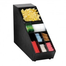 Dispense-Rite NLO-SUB-1B 8 Compartment Lid, Straw and Condiment Organizer
