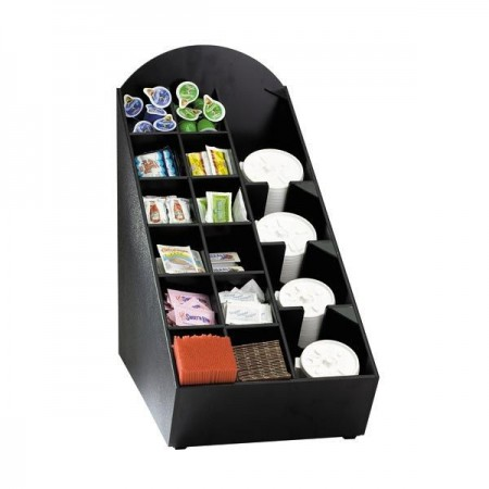 Dispense-Rite NLO-WVL 16 Compartment Condiment and Lid Organizer