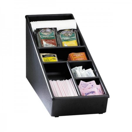 Dispense-Rite NLS-1BT 6-Compartment Condiment and Lid Organizer