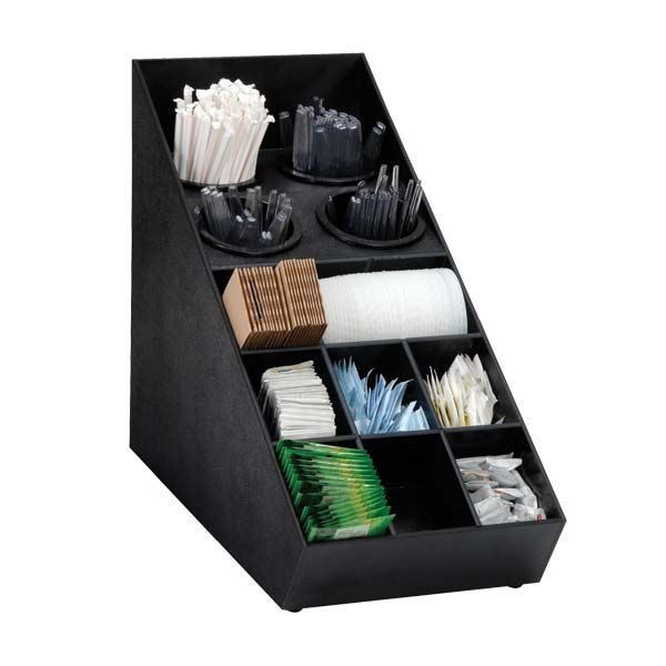 Dispense-Rite SWCH-1BT 13-Section Countertop Flatware and Condiment Organizer