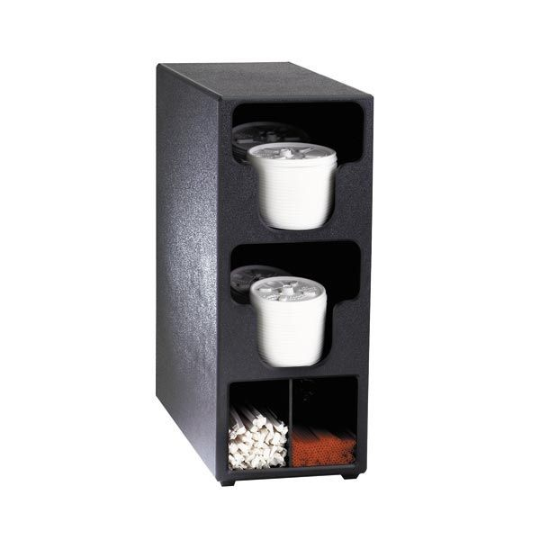 Dispense-Rite TLO-2BT 4 Compartment Lid, Straw and Condiment Organizer