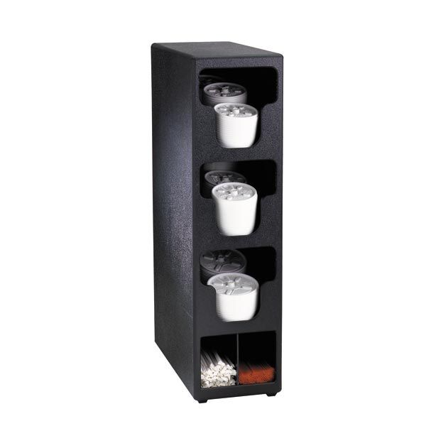 Dispense-Rite TLO-3BT 5 Compartment Lid and Condiment Organizer, Polystyrene