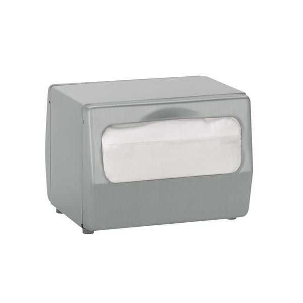 Dispense-Rite TT-FULL-BS Stainless Steel Tabletop Napkin Dispenser. Full Fold
