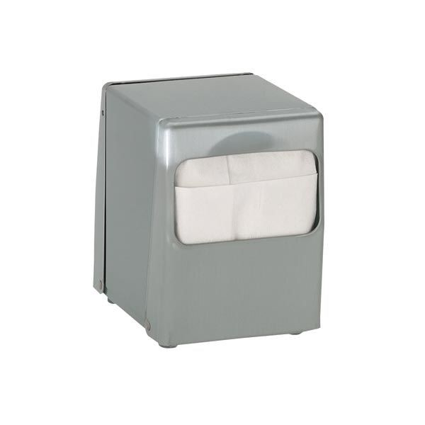 Dispense-Rite TT-LOW-BS Stainless Steel Tabletop Napkin Dispenser, Low Fold