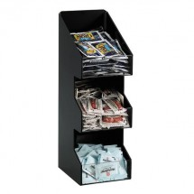 Dispense-Rite VCO-3 3 Compartment Vertical Coffee Condiment Organizer