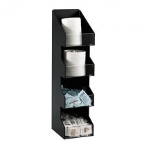 Dispense-Rite VCO-4 4 Compartment Vertical Coffee Condiment Organizer