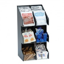 Dispense-Rite VCO-6 6 Compartment Vertical Coffee Condiment Organizer