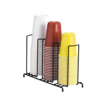 Dispense-Rite WR-3 3-Section Beverage Cup Dispensing Rack