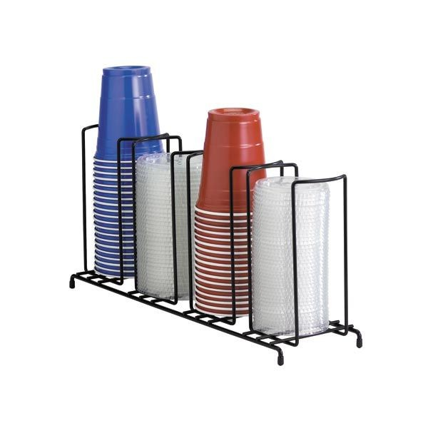 Dispense-Rite WR-4 4-Section Beverage Cup Dispensing Rack