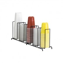 Dispense-Rite WR-5 5-Section Beverage Cup Dispensing Rack 8-44 oz.