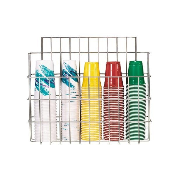 Dispense-Rite WR-CC-22 Stainless Steel Cup Dispensing Caddy