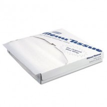 Dixie Food Menu Tissue Untreated Paper Sheets, White 1000/Pack, 10/Carton