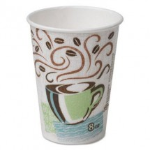Dixie Perfectouch Individually Wrapped Paper Hot Cups, 8  oz., Coffee Dreams, 1000/Carton
