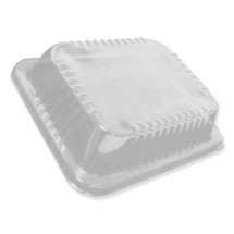Low Dome Lids for 10 1/2 x 12 5/8 Oblong Containers, 100/Carton